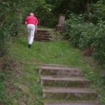 Treppe zum jüd. Friedhof
