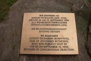 Gedenkstein August Dickmann